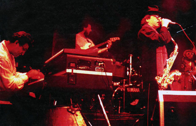 Edy Martínez and Gato Barbieri, playing in New York.