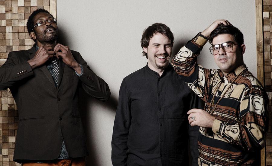 """Daniel Garcia Diego Trio - Left to right: Reinier Elizarde """"El Negrón"""", Daniel García Diego, Michael Olivera."""