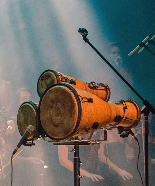 Bàtá drums on stage at Sala Covarrubias, Teatro Nacional. Photo credit: Danilo Navas