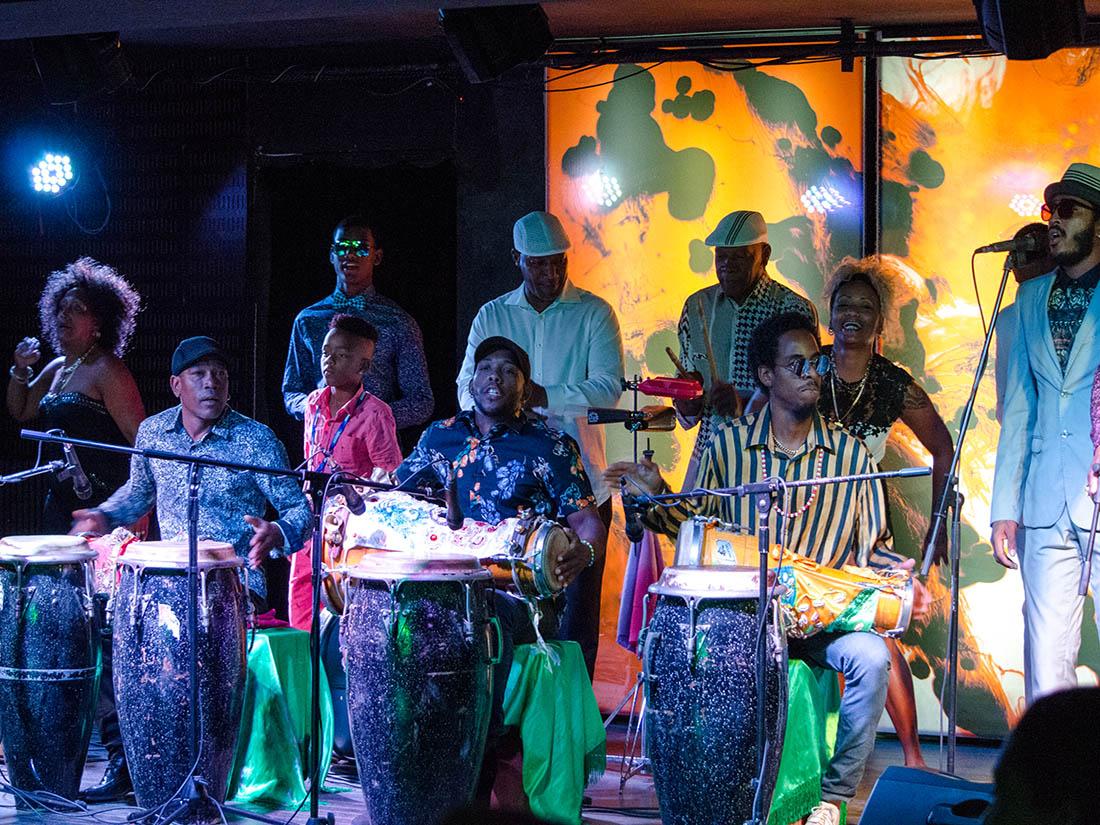 Los Muñequitos de Matanzas at El Tablao. Jazz Plaza 2020. Photo credit: Danilo Navas, Raul Da Gama