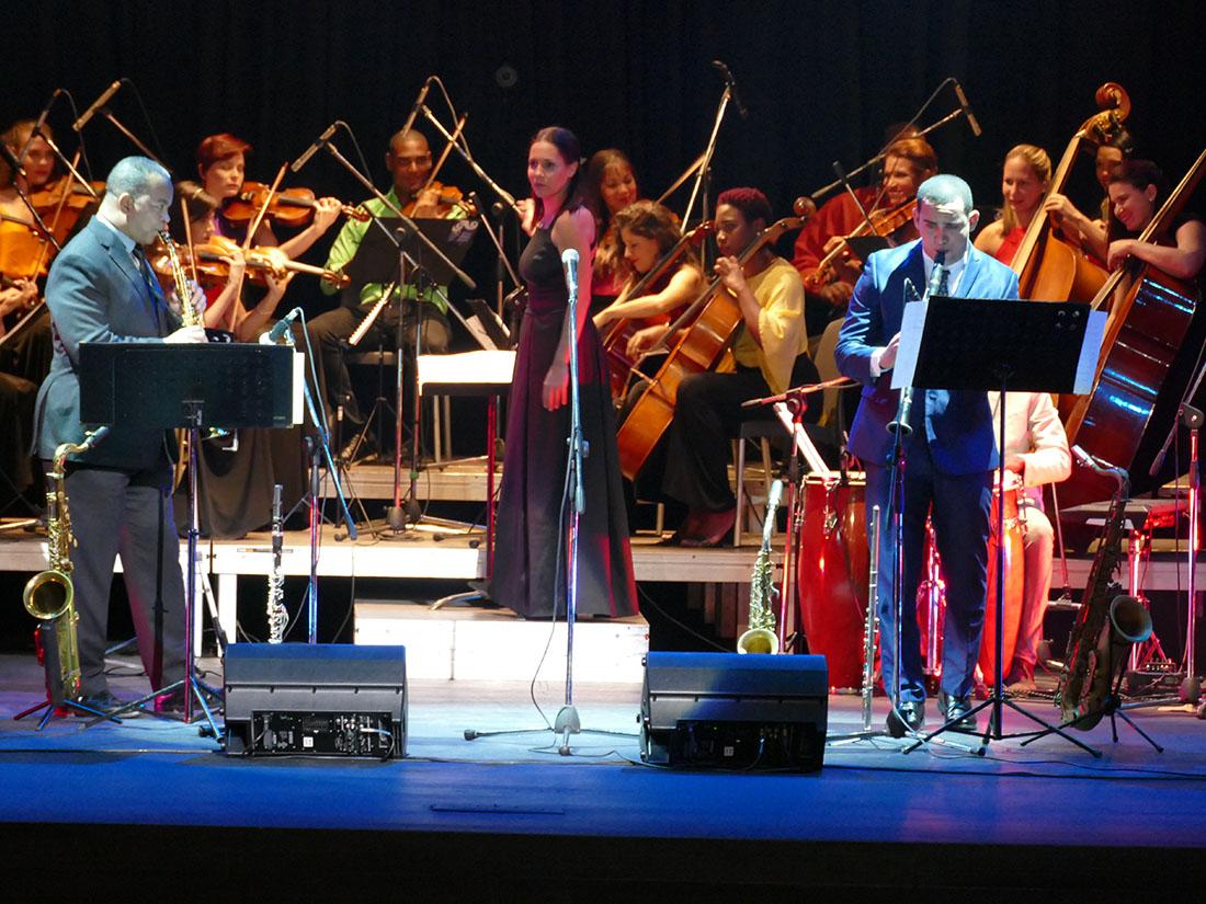 Victor Goines and Janio Abreu at Teatro Martí. Photo credit: Danilo Navas