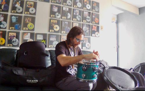 Henry Cole at AQ30 Studios in Bayamón, Puerto Rico