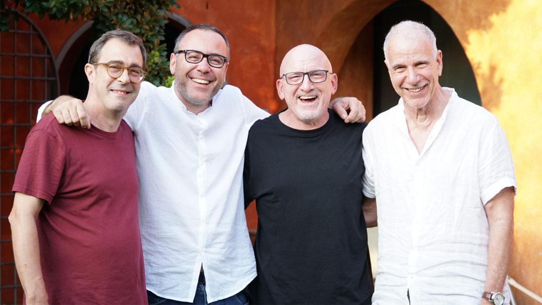 L to R: Pietro Leveratto, Francesco Cataldo, Adam Nussbaum, Marc Copland. Photo by Andrea Masciocchi.