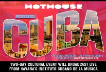 "A Concert for Cuba,"" streaming free, world-wide on July 18 & 19"