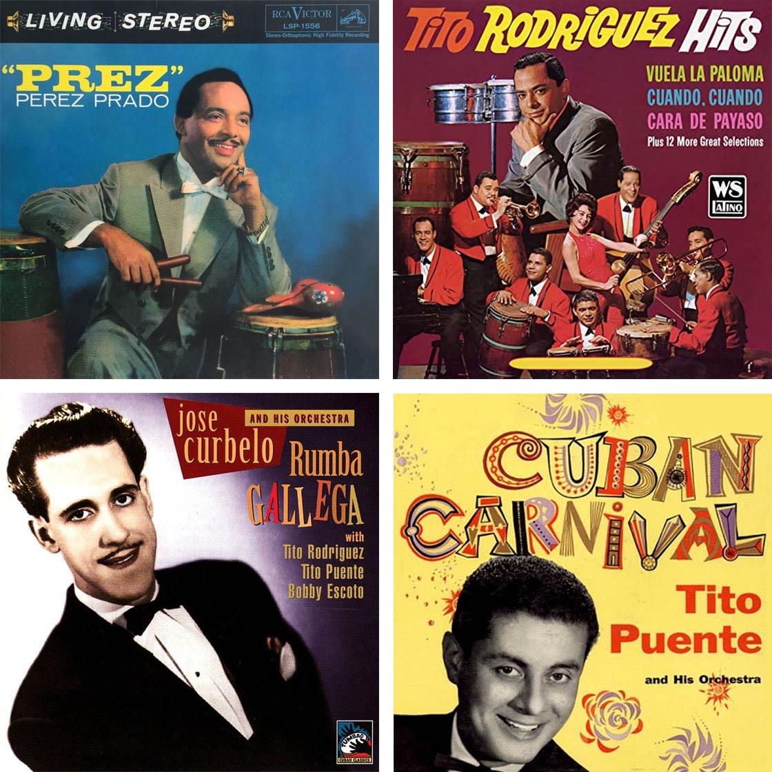 Pérez Prado, Tito Rodríguez, José Curbelo, Tito Puente