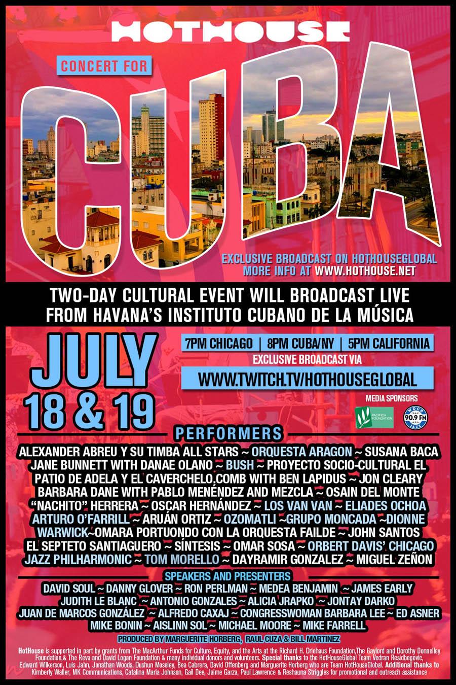 Hothouse Concert For Cuba