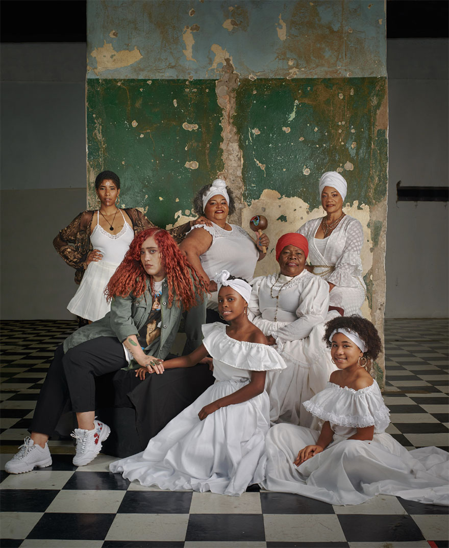 Photo by Bill Wadman. From top left to right: Tanicha Lopez, Nelie Lebrón, Maribella Burgos, Dalí Marie, Hilda Pizarro, Johnsuaris Davila and Yariana Calderón